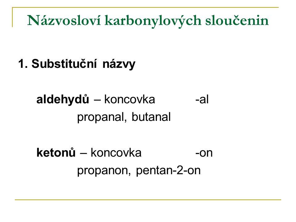 Názvosloví karbonylových sloučenin