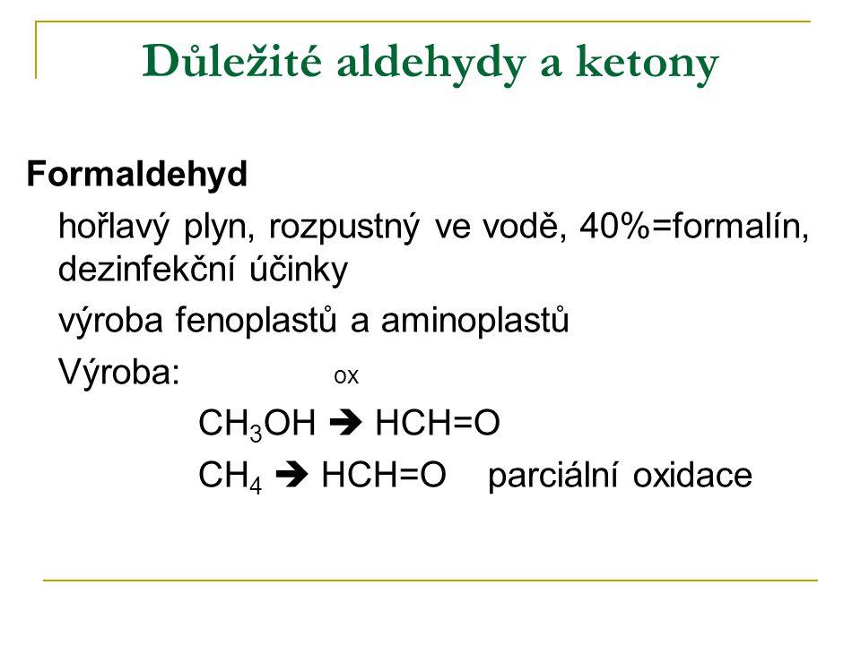 Důležité aldehydy a ketony