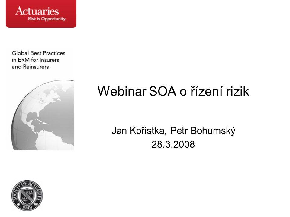 Webinar SOA o řízení rizik