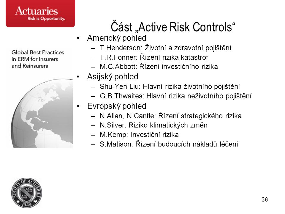 "Část ""Active Risk Controls"