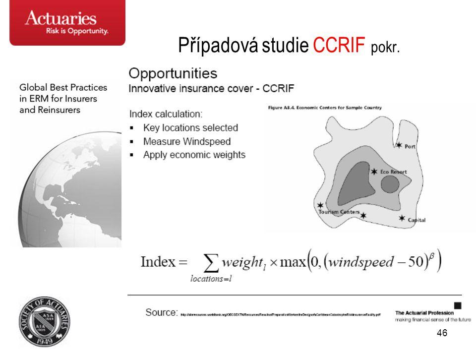 Případová studie CCRIF pokr.