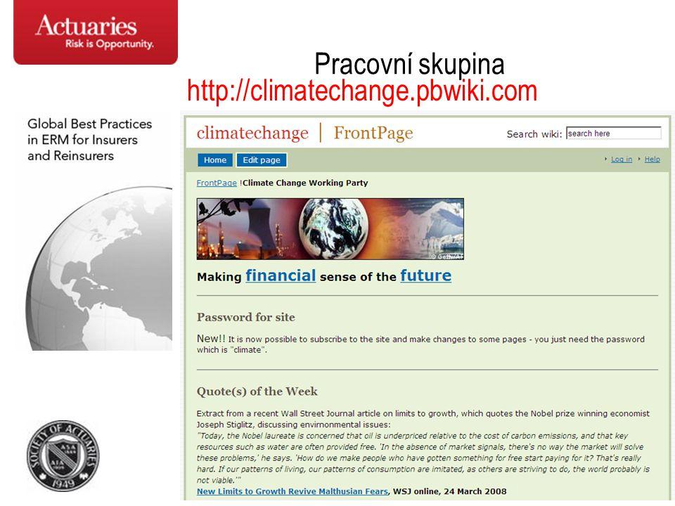Pracovní skupina http://climatechange.pbwiki.com
