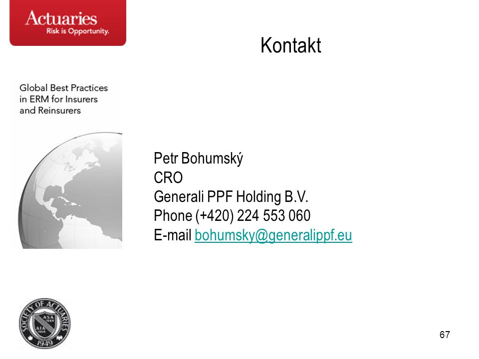 Kontakt Petr Bohumský CRO Generali PPF Holding B.V.