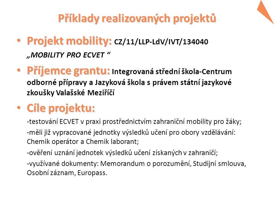 Program Příklady realizovaných projektů 2014 -2020