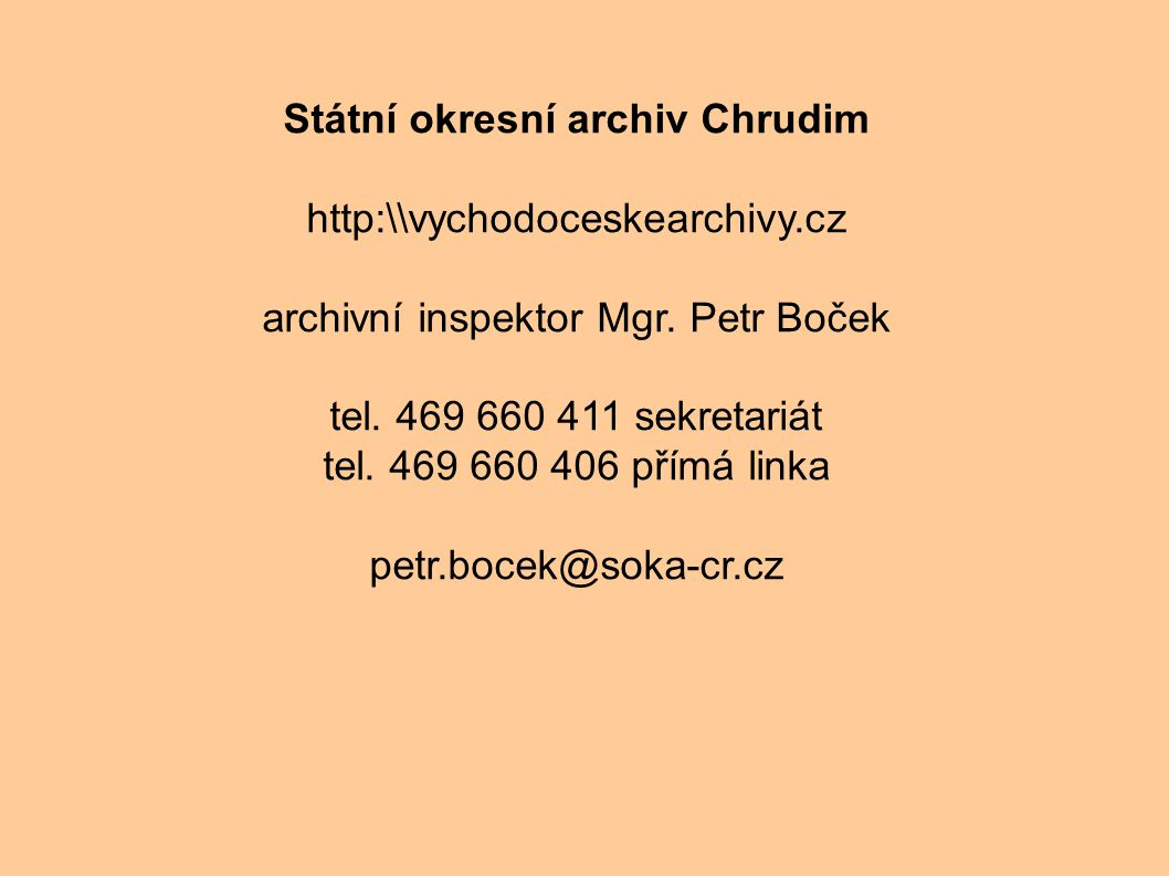 Státní okresní archiv Chrudim