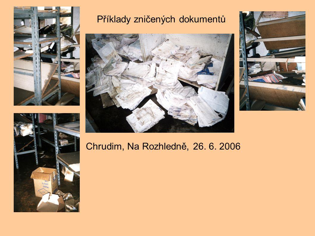 Příklady zničených dokumentů
