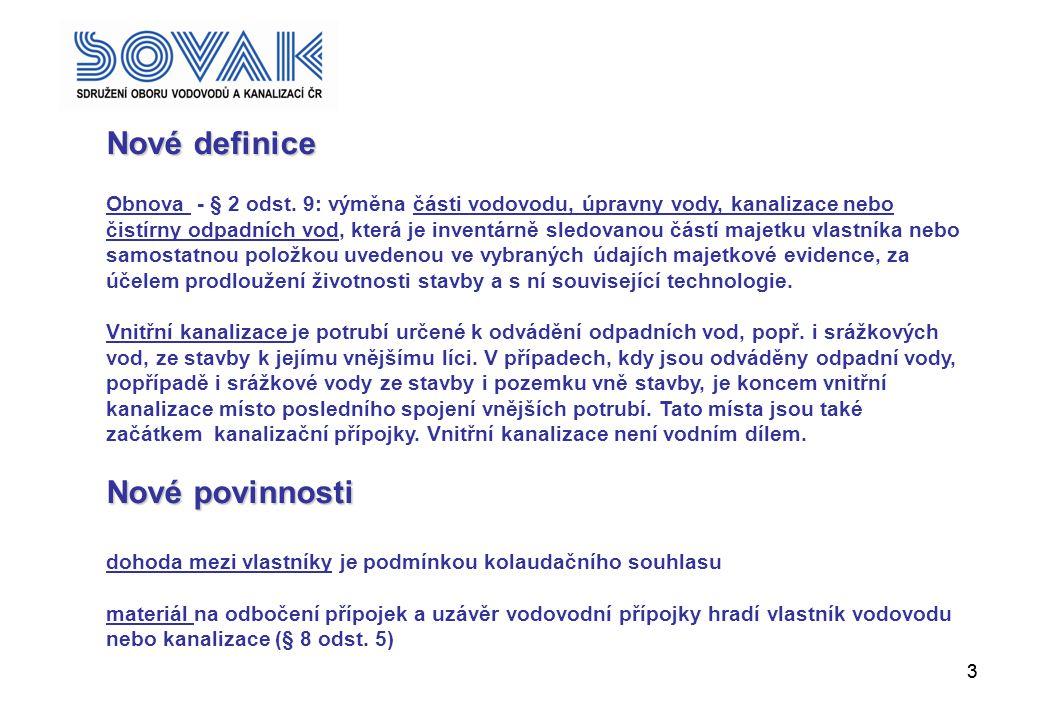 Nové definice Nové povinnosti ;