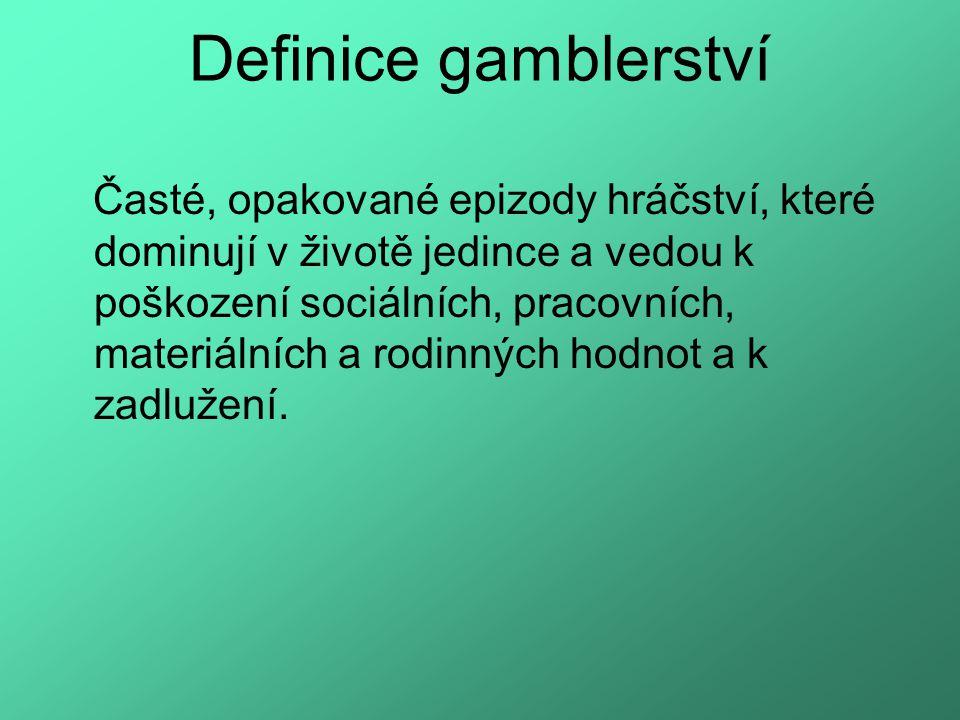 Definice gamblerství