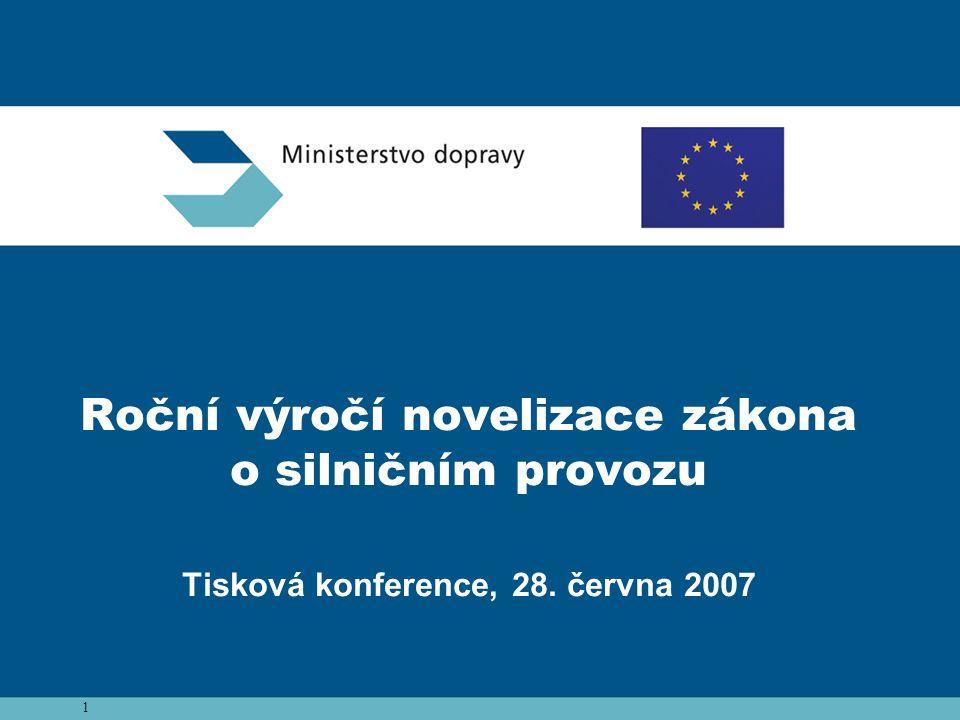 Roční výročí novelizace zákona o silničním provozu Tisková konference, 28. června 2007