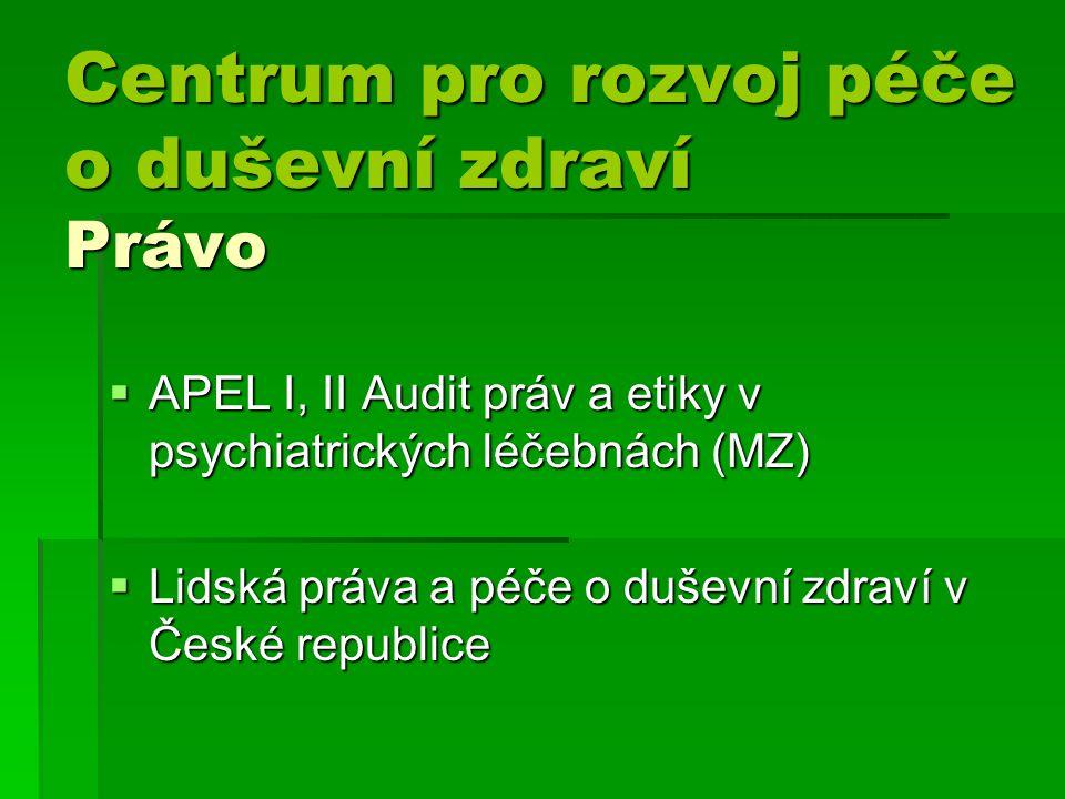 Centrum pro rozvoj péče o duševní zdraví Právo