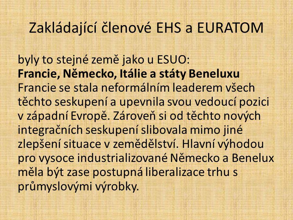 Zakládající členové EHS a EURATOM