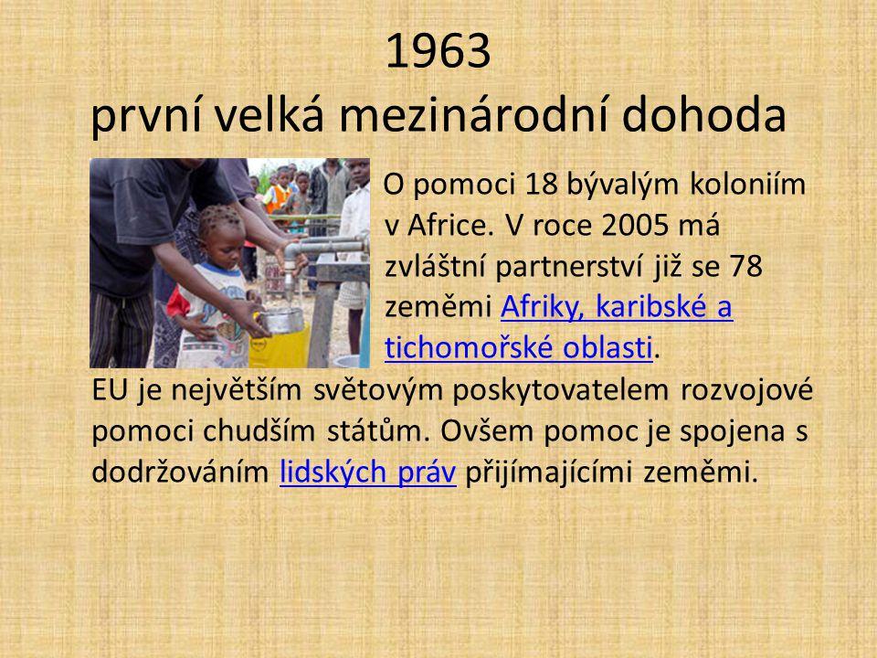 1963 první velká mezinárodní dohoda
