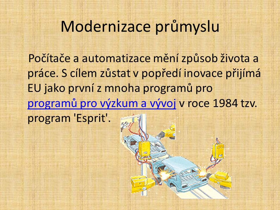 Modernizace průmyslu