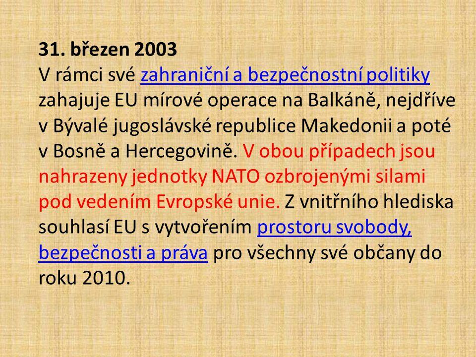 31. březen 2003