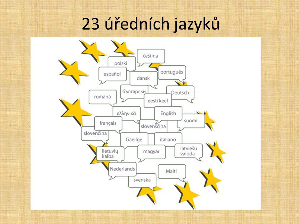23 úředních jazyků 49