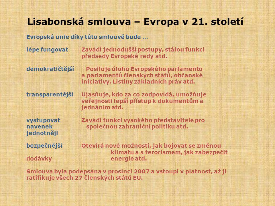 Lisabonská smlouva – Evropa v 21. století