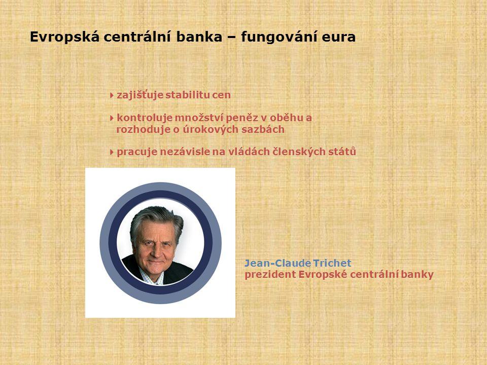 Evropská centrální banka – fungování eura