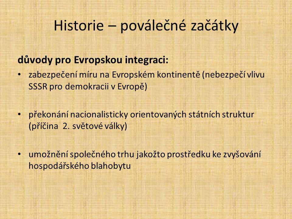 Historie – poválečné začátky