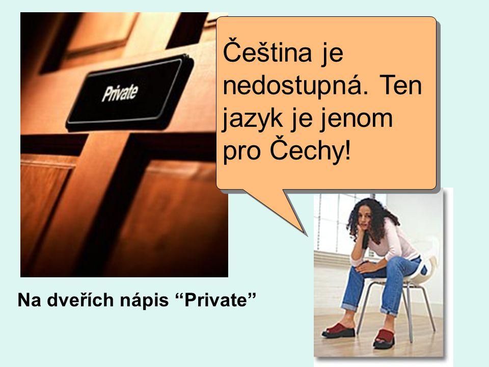 Čeština je nedostupná. Ten jazyk je jenom pro Čechy!