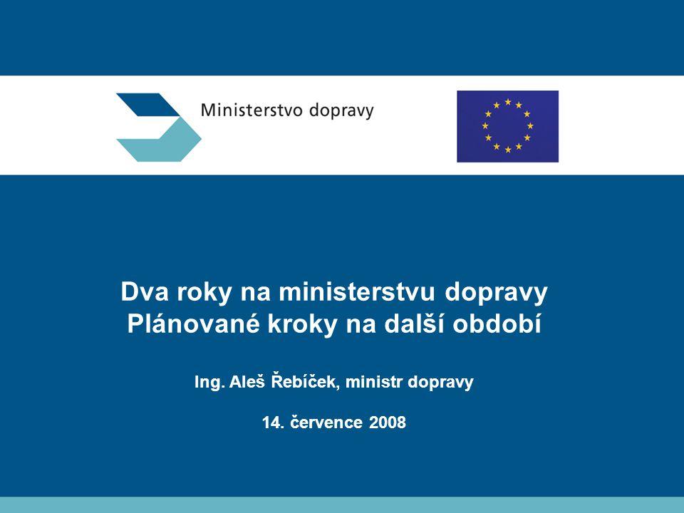Dva roky na ministerstvu dopravy Plánované kroky na další období Ing