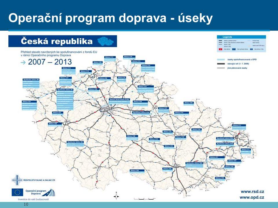 Operační program doprava - úseky