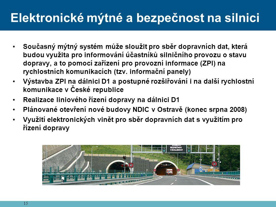 Elektronické mýtné a bezpečnost na silnici