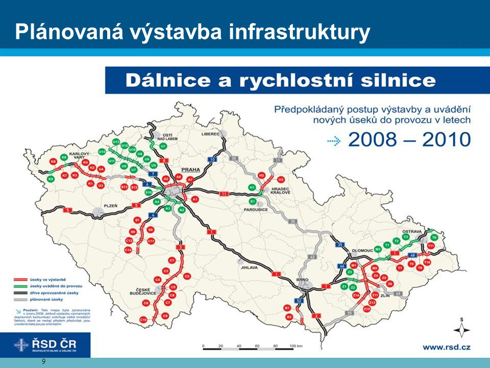 Plánovaná výstavba infrastruktury