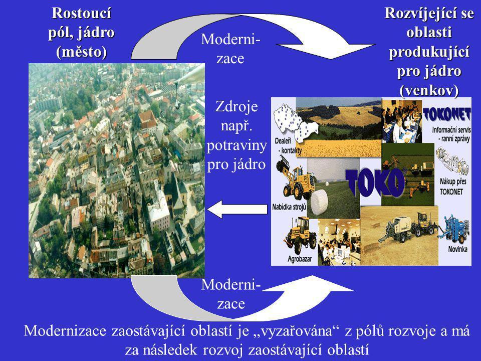 Rostoucí pól, jádro (město)