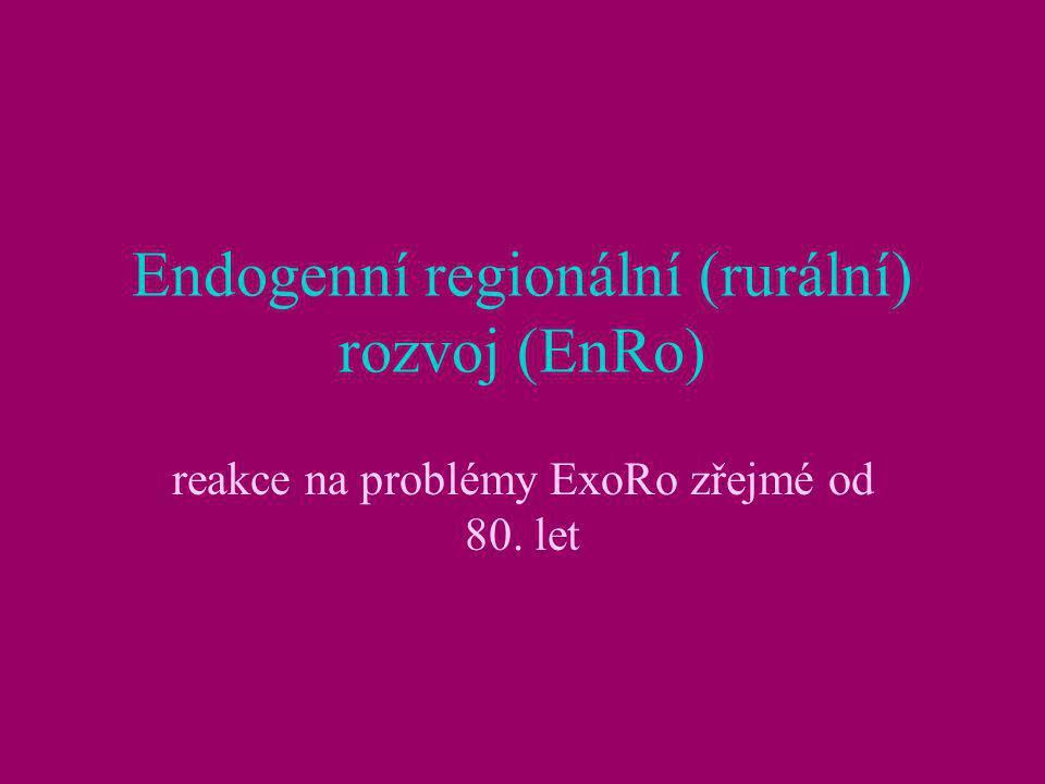 Endogenní regionální (rurální) rozvoj (EnRo)