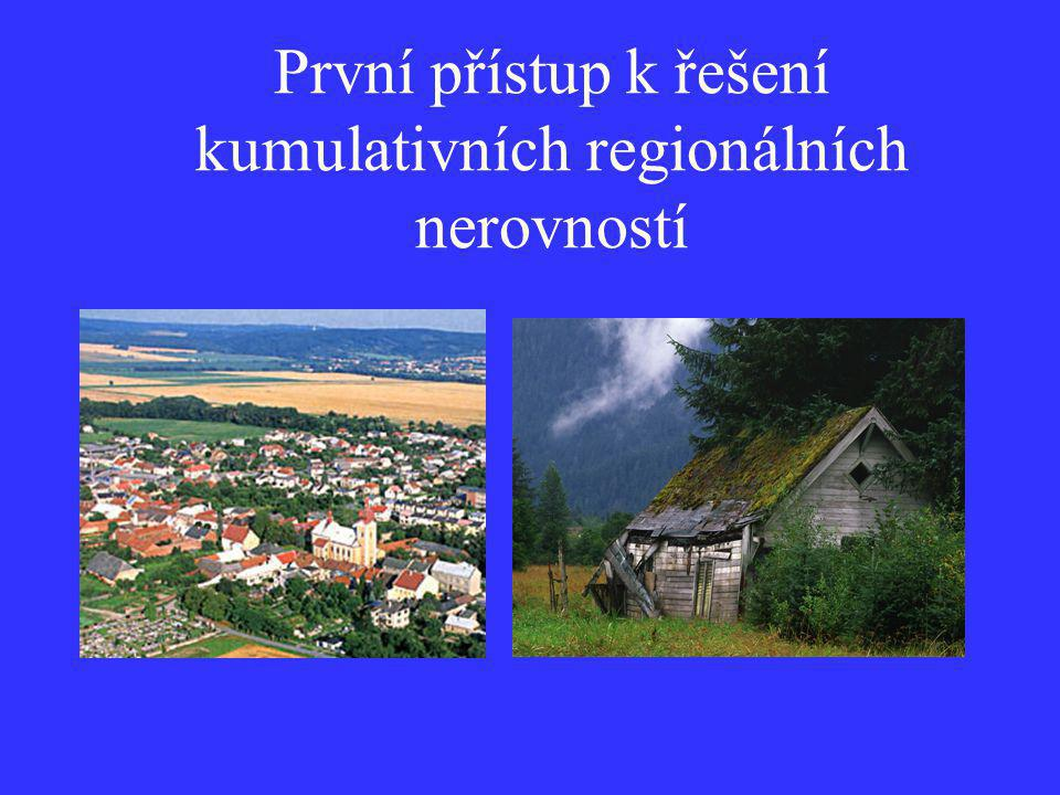 První přístup k řešení kumulativních regionálních nerovností