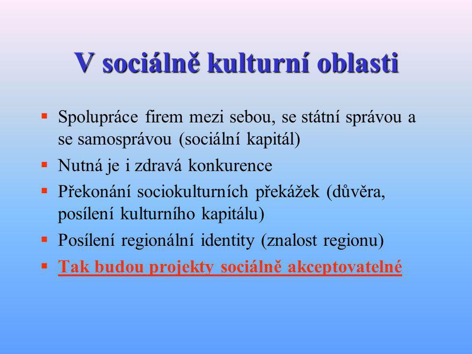 V sociálně kulturní oblasti