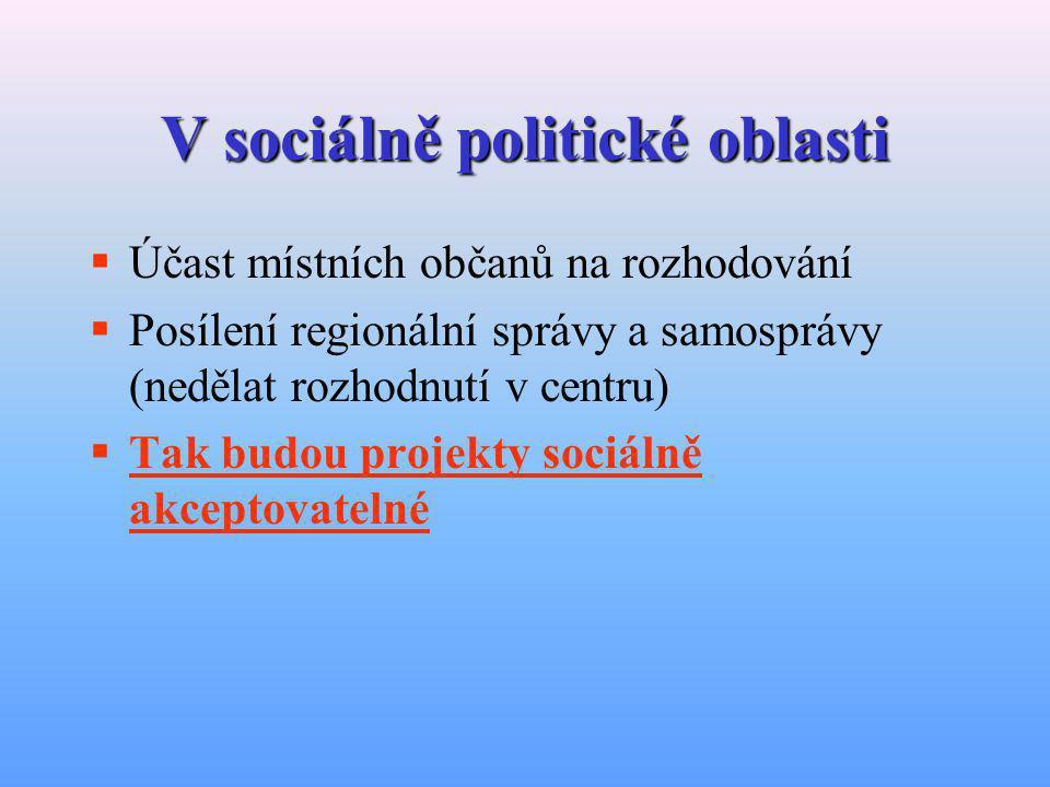 V sociálně politické oblasti