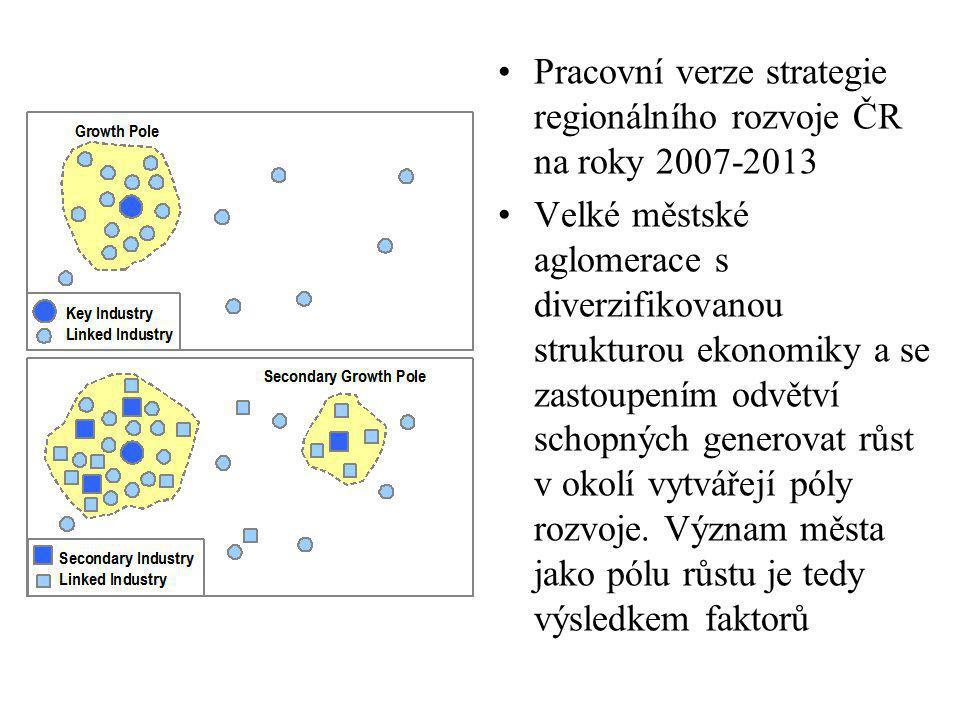 Pracovní verze strategie regionálního rozvoje ČR na roky 2007-2013