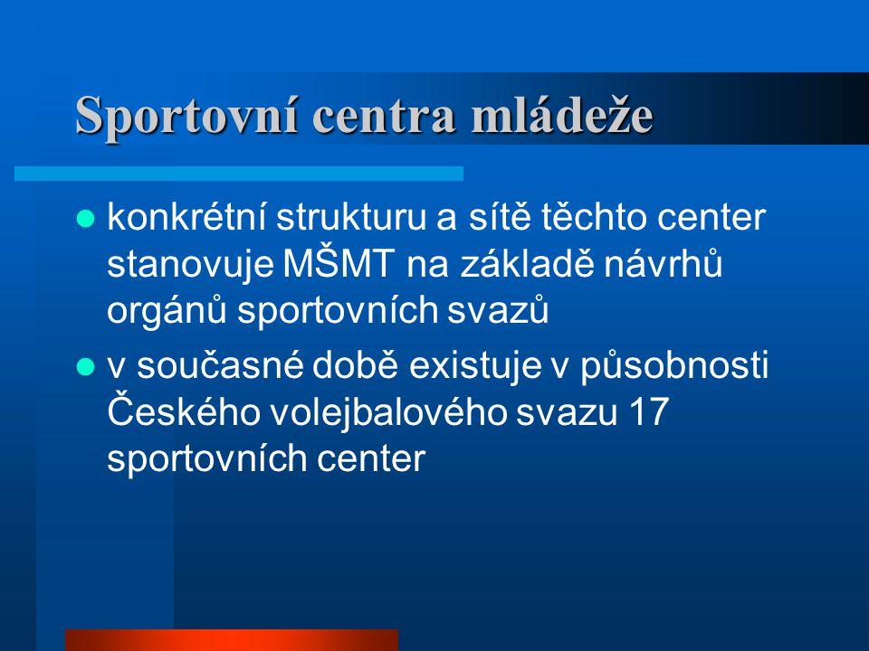Sportovní centra mládeže