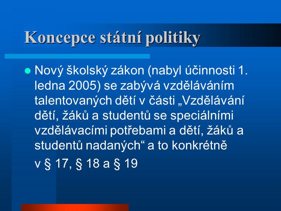 Koncepce státní politiky
