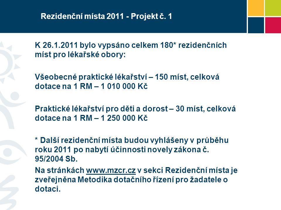 Rezidenční místa 2011 - Projekt č. 1