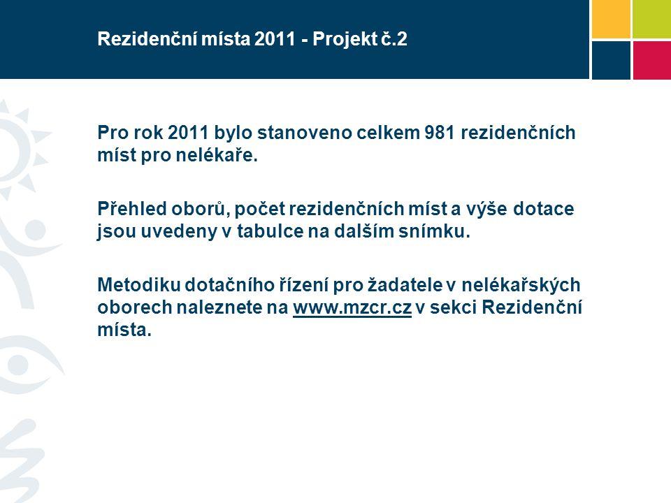 Rezidenční místa 2011 - Projekt č.2