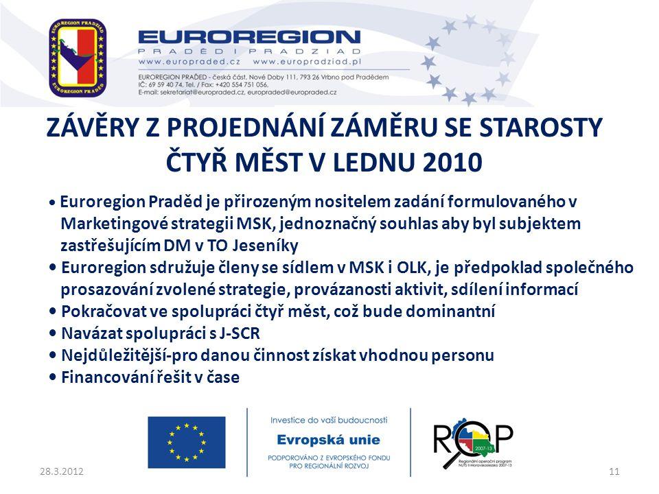 Závěry z projednání záměru se starosty čtyř měst v lednu 2010