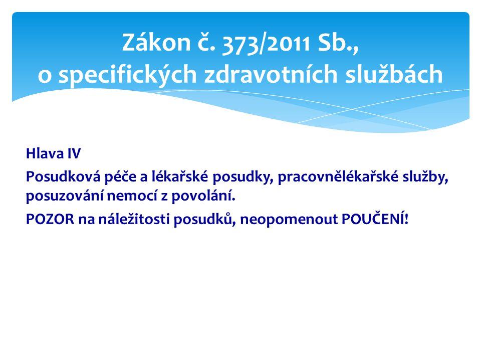Zákon č. 373/2011 Sb., o specifických zdravotních službách