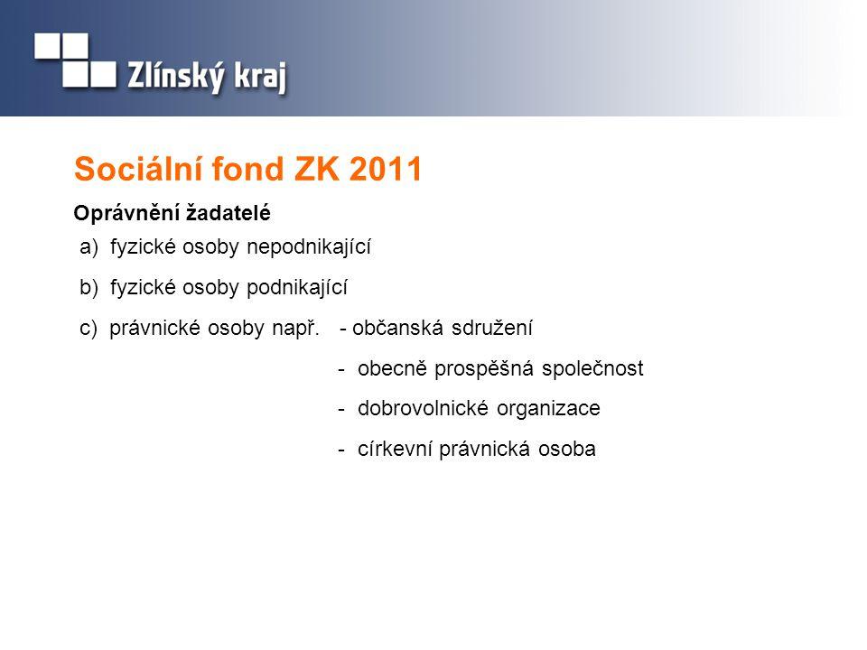 Sociální fond ZK 2011