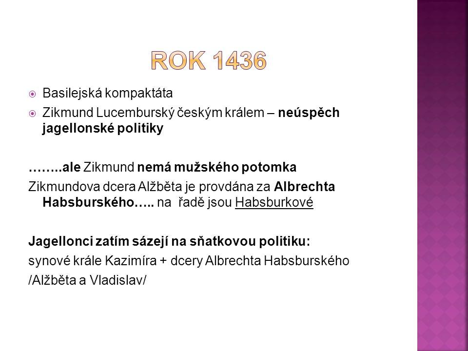 Rok 1436 Basilejská kompaktáta