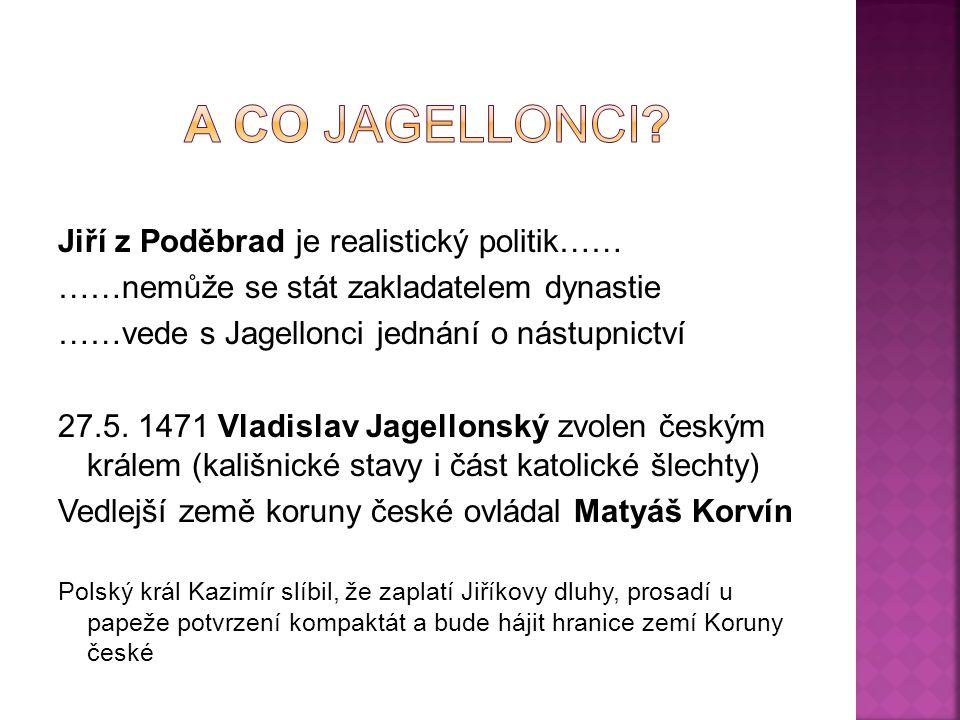 A co jagellonci Jiří z Poděbrad je realistický politik……