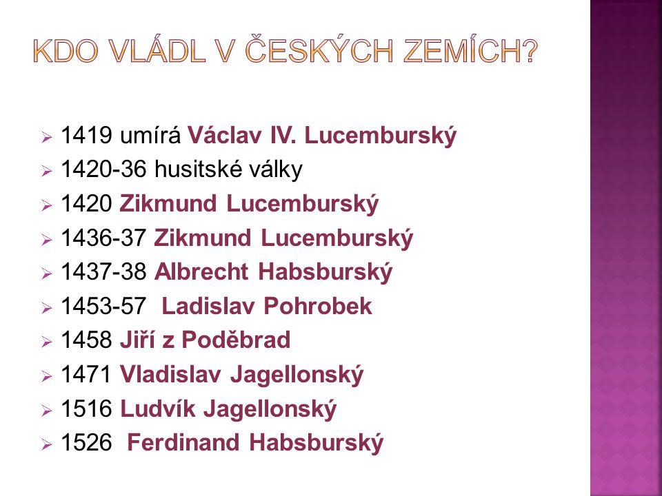 Kdo vládl v českých zemích