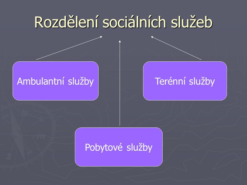 Rozdělení sociálních služeb
