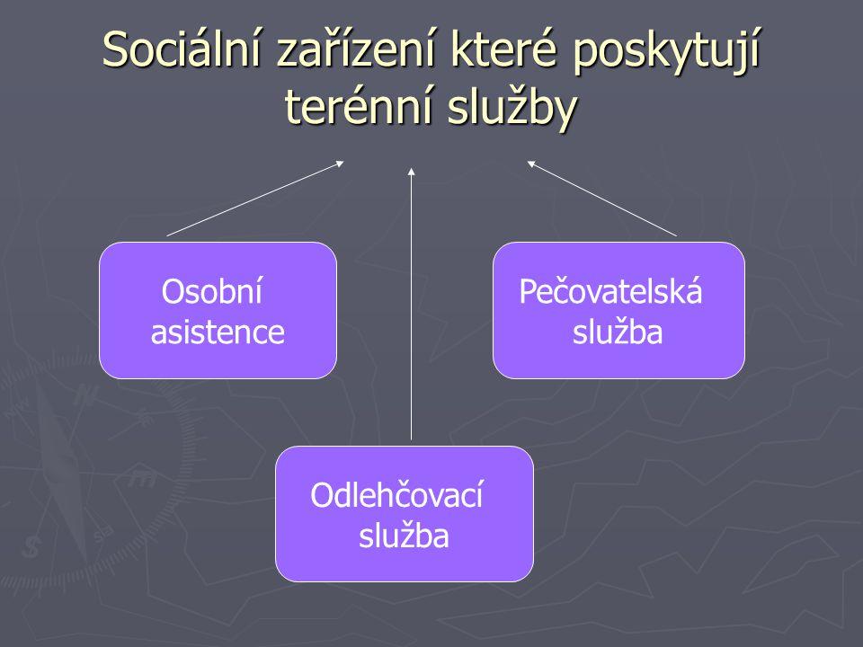 Sociální zařízení které poskytují terénní služby