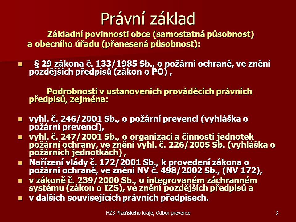 HZS Plzeňského kraje, Odbor prevence