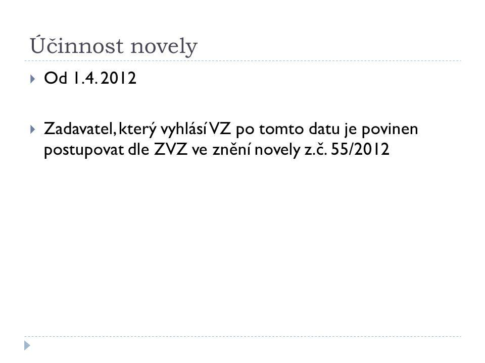 Účinnost novely Od 1.4. 2012.