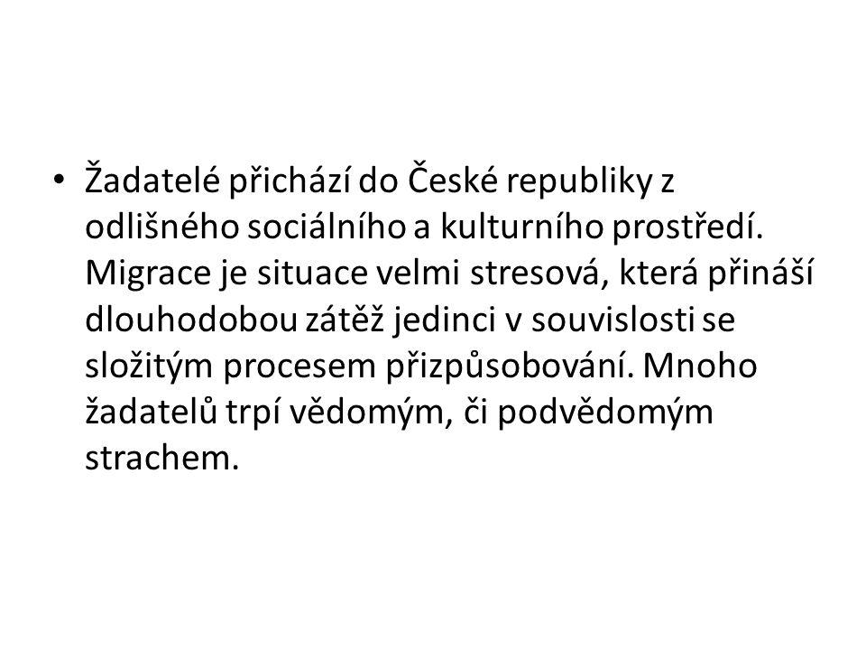 Žadatelé přichází do České republiky z odlišného sociálního a kulturního prostředí.
