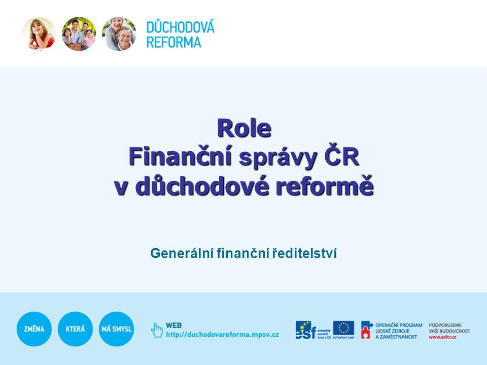 Role Finanční správy ČR v důchodové reformě