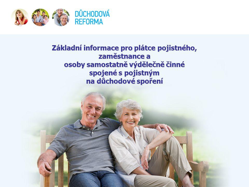 Základní informace pro plátce pojistného, zaměstnance a